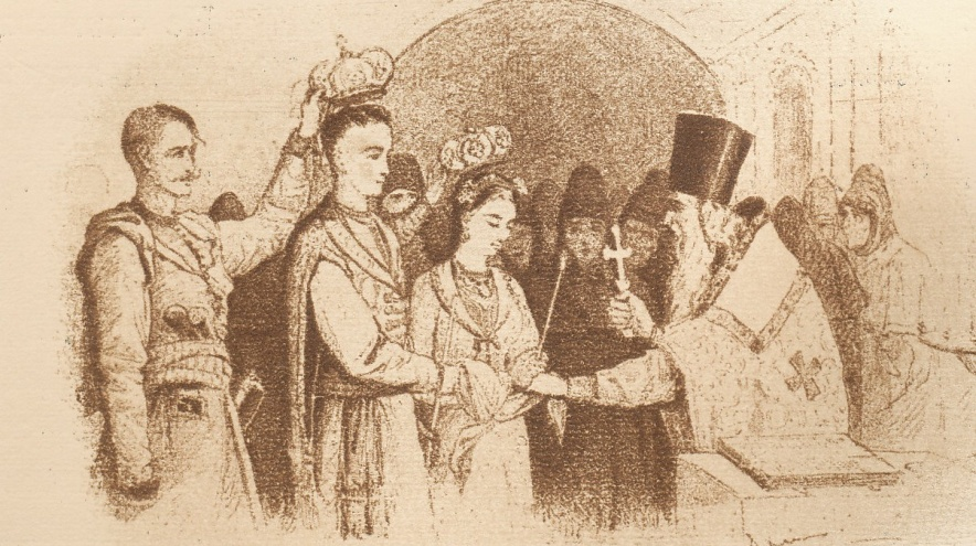 "Although Oksana and Yarema are wedded, their marriage is not consummated because Yarema, to ""please his leader,"" goes off to join the rebellion that same evening."