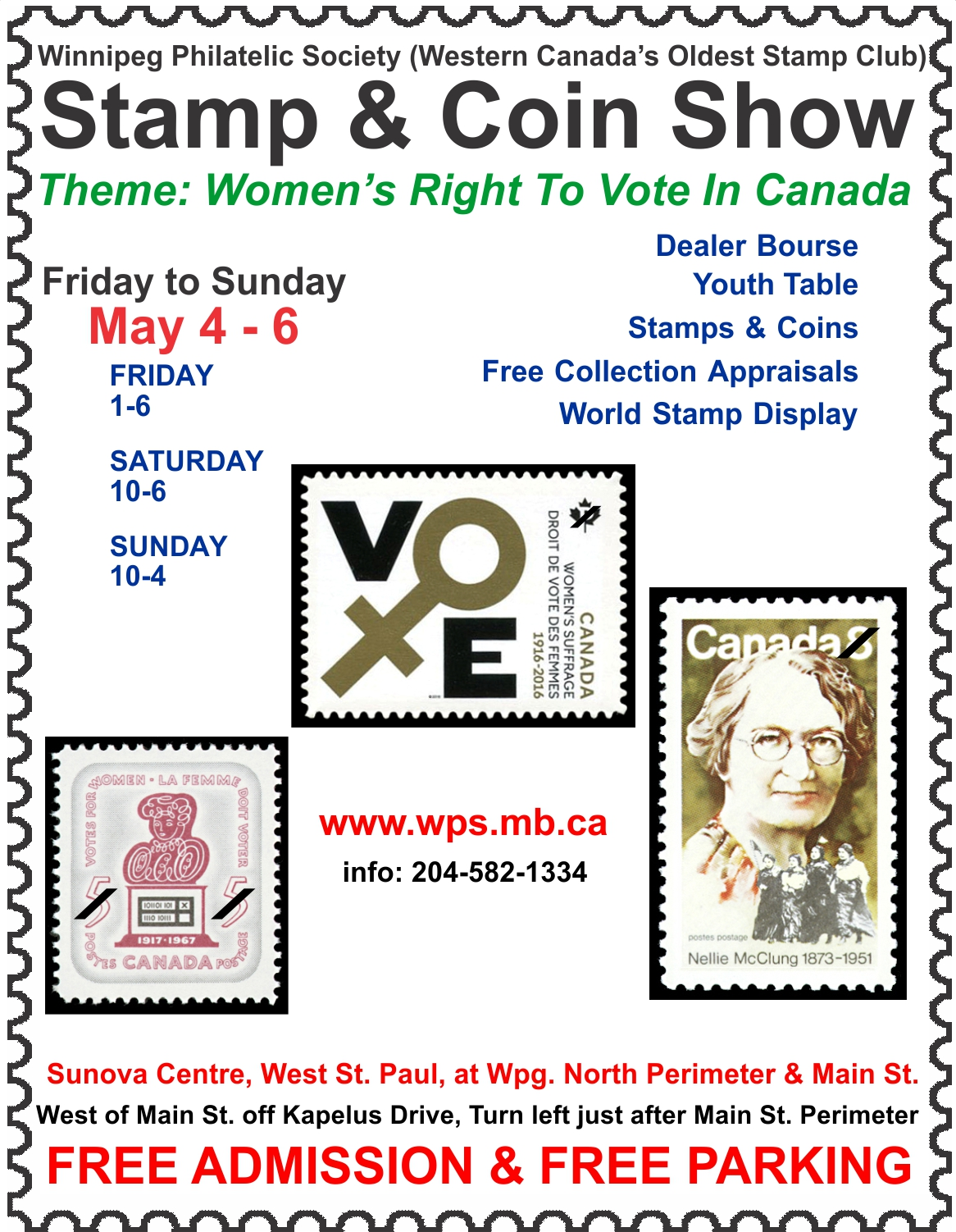 Stamp Coin Show Womens Right To Vote In Canada
